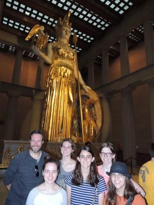Athena towers majestically within the Parthenon.