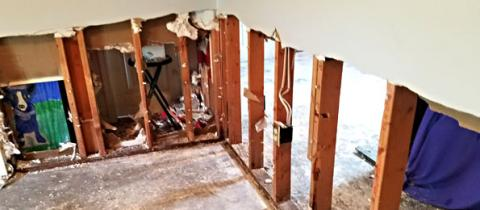 Image result for louisiana flood drywall removal