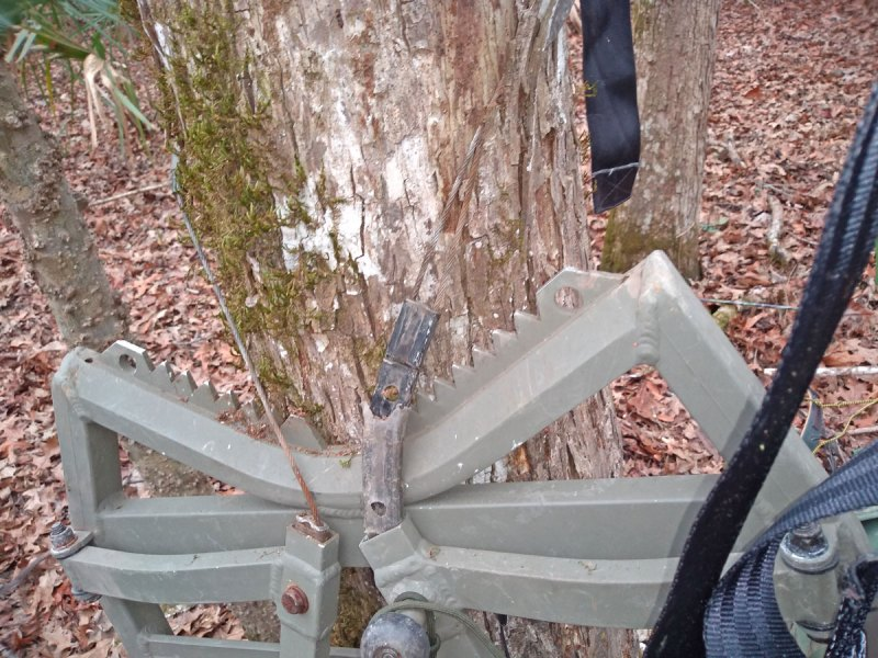 Rust or corrosion can cause problems with the basic struts and supports on tree stands.