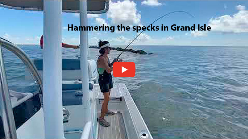 Hammering the specks in Grand Isle