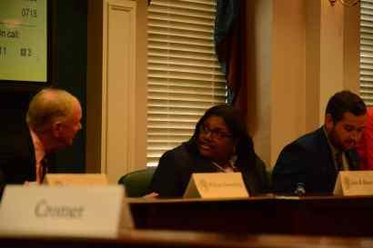 Trustee Bonita Black next to president Ramsey
