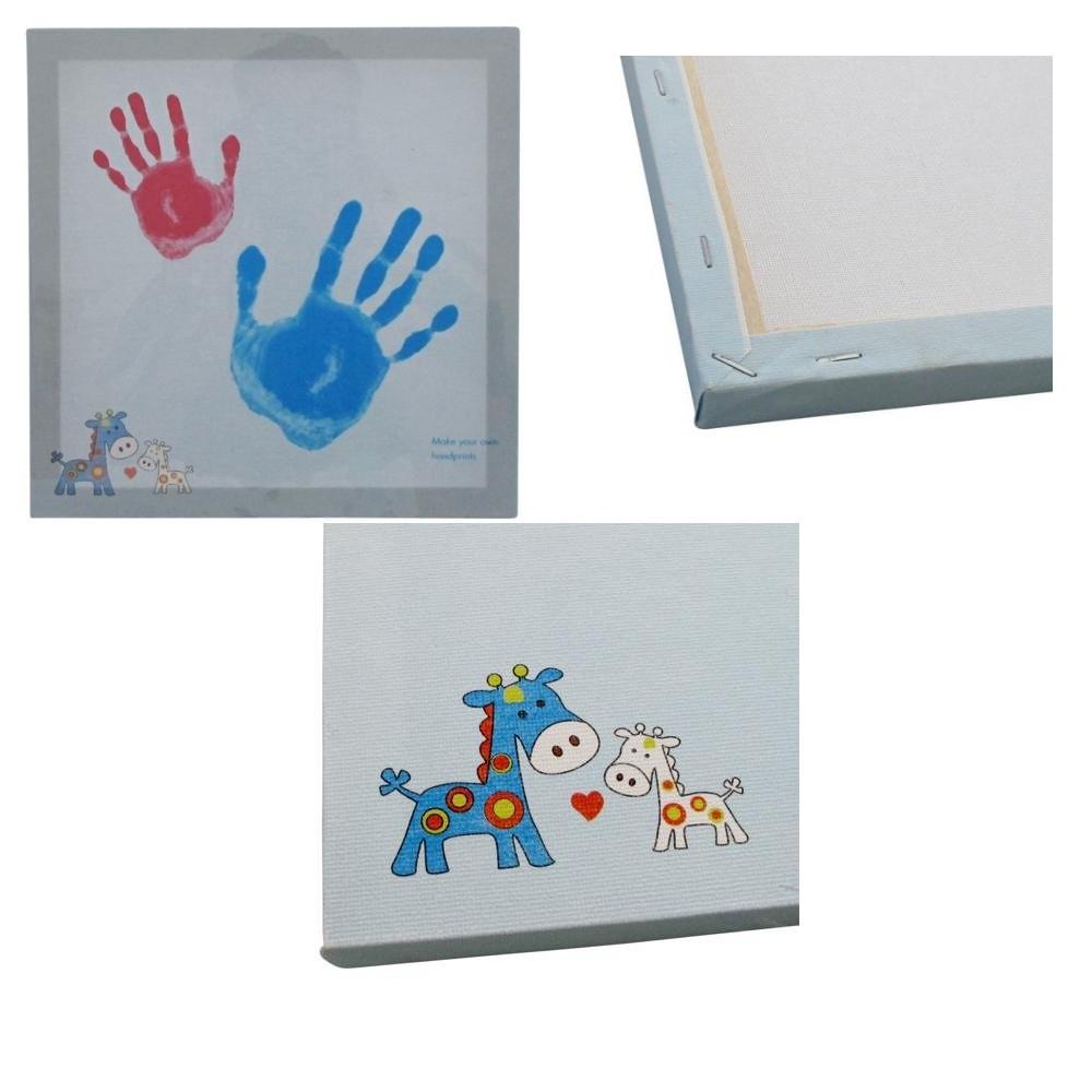 Kit Empreinte Tableau Bleu Garon Main Pied Peinture Bb