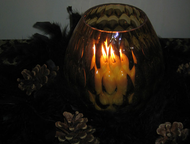 halloween decoration candle