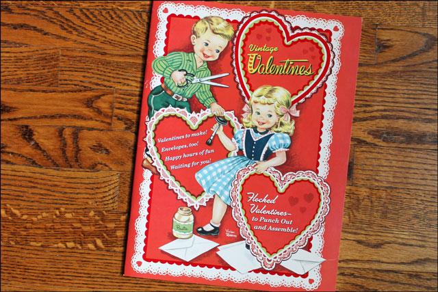 Reproduction-Vintage-Valentine golden book