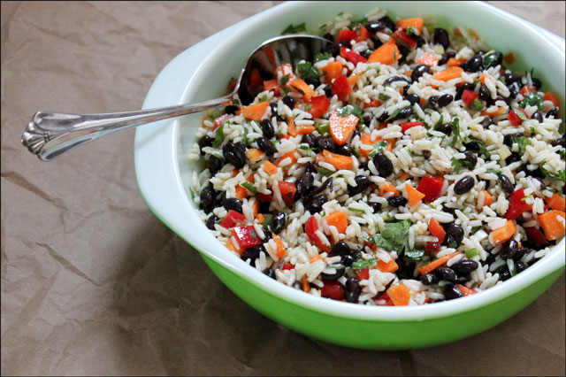 black-bean-and-rice-marinated salad