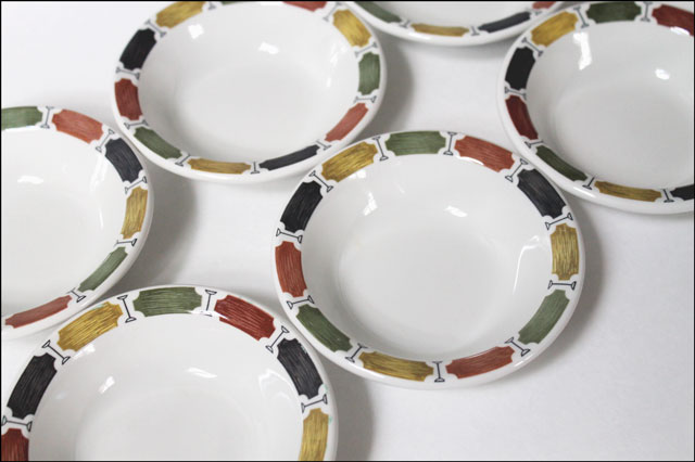 thrifted-grindley-duraline-carnival bowls