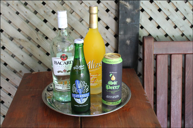 alize-sir-perry-bacardi-steam whistle beer