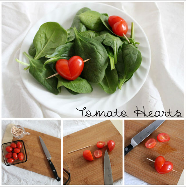 how to make hearts from grape tomatoes
