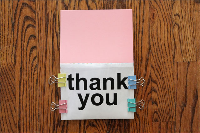 making-thank-you-card