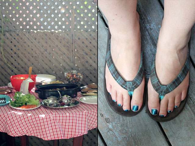 table-and-flip-flops
