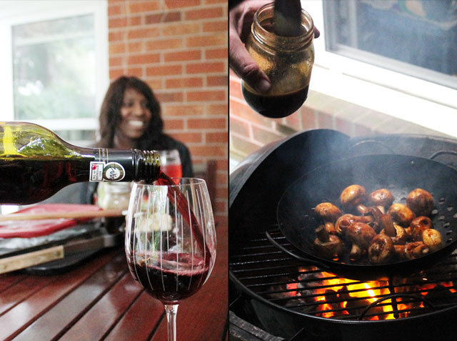 wine-and-mushrooms-bbq