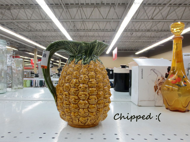 chipped-pineapple-pitcher-at-thrift-store-left-behind