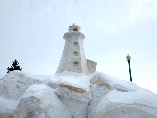 lighthouse-made-of-snow