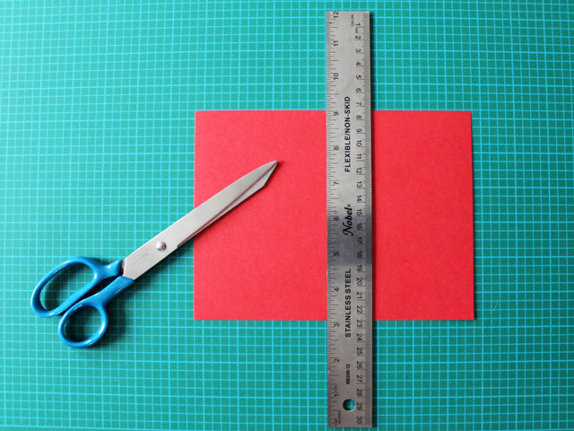 making-the-card-base-for-a-diy-valentine-card