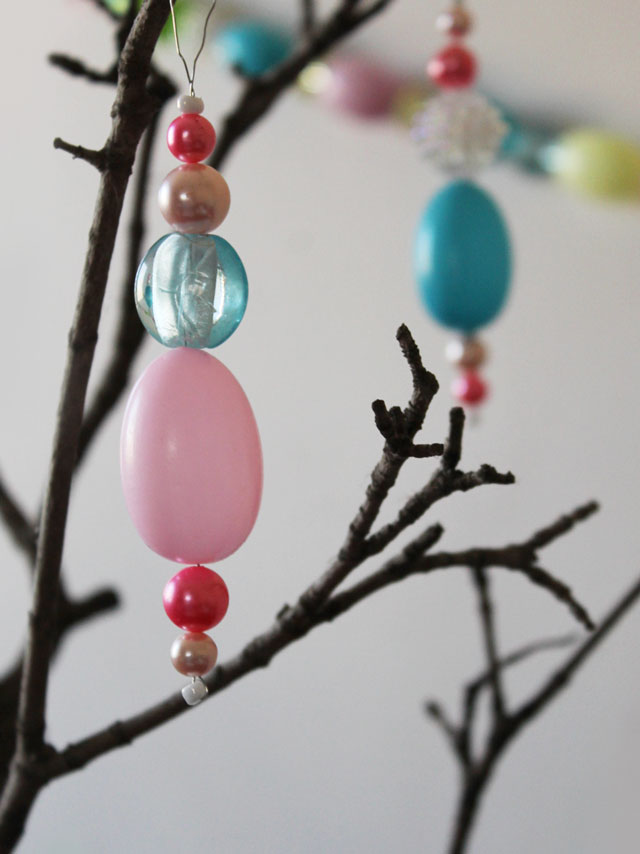 how-to-make-easter-decoration-hanging-ornaments-with-vintage-beads-new-beads-and-blow-mold-eggs