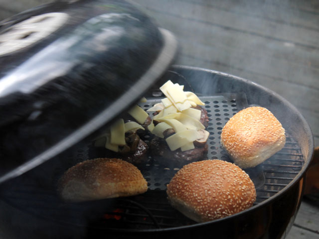 grilling-burgers-from-sanagans-meat-locker