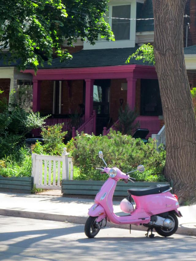 pink-electric-bike-purple-house