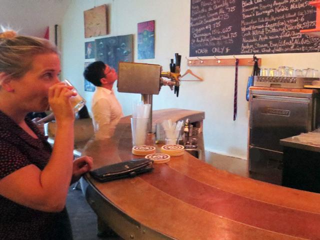 sampling-pear-beer-at-embassy-bar-in-kensington-market-toronto