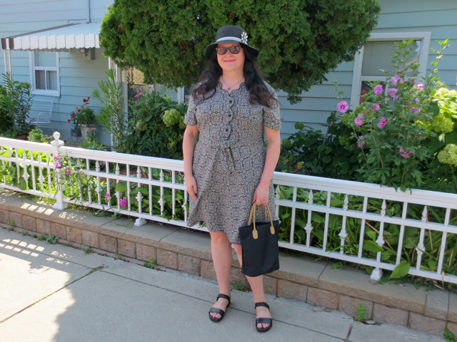 wearing-a-1940s-vintage-dress from Jack Lux