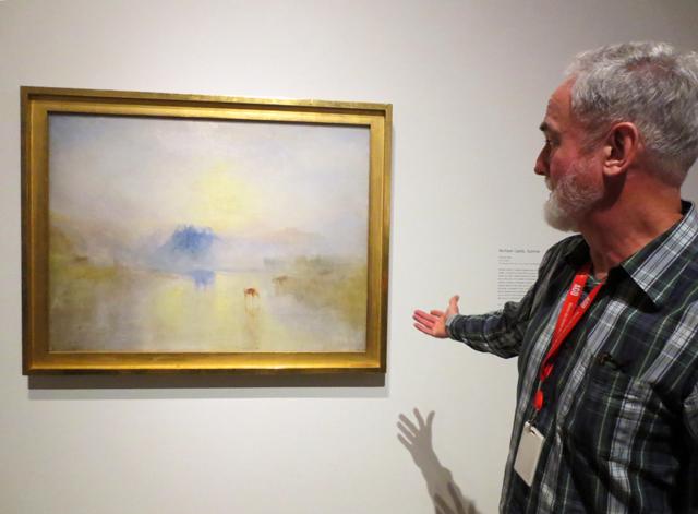 david-wistow-discussing-jmw-turner-painting-norham-castle-sunrise