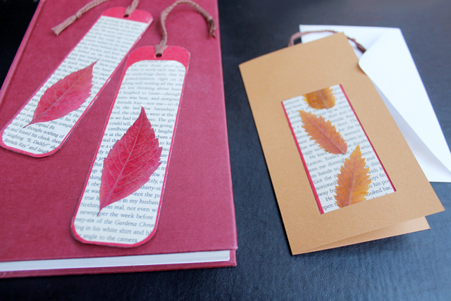handmade-bookmark-with-pressed-leaves-inserted-into-handmade-greeting-card