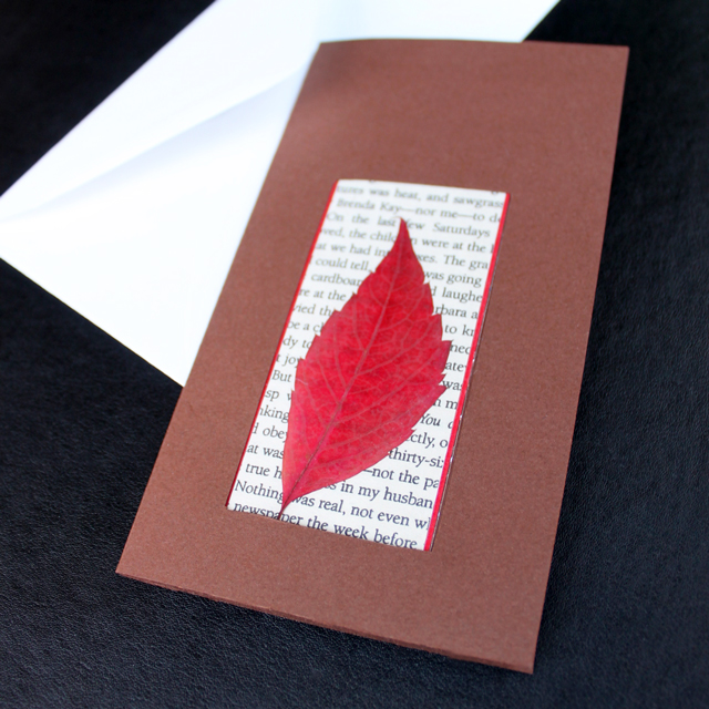 how-to-make-a-card-with-a-bookmark-inside-using-pressed-leaves