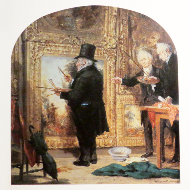 photo-of-painting-by-william-parrott-of-jmw-turner-touching-up-his-painting-on-varnishing-day-before-put-of-public-display
