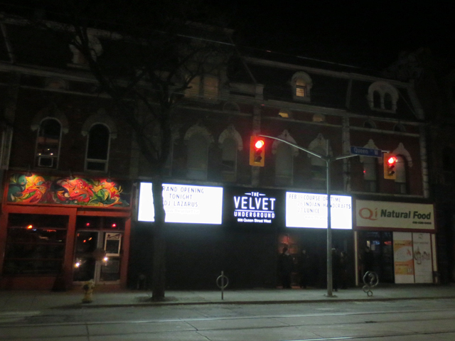 velvet-underground-queen-street-west-toronto-reopening-weekend