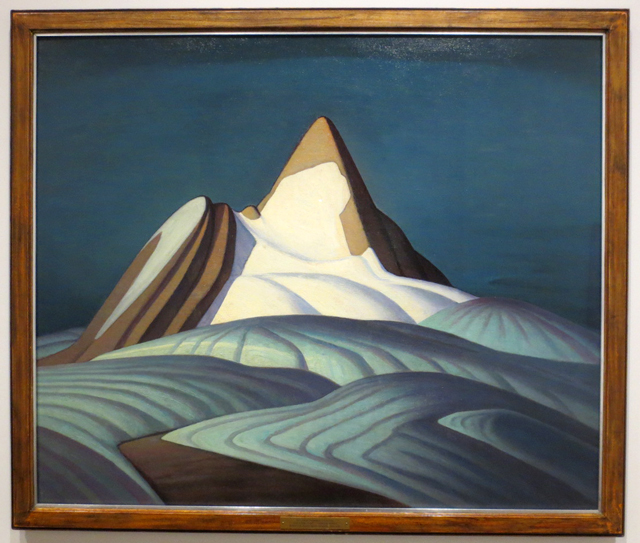 lawren-harris-group-of-seven-painting-isolation-peak-rocky-mountains-on-display-at-ago-exhibit-the-idea-of-north