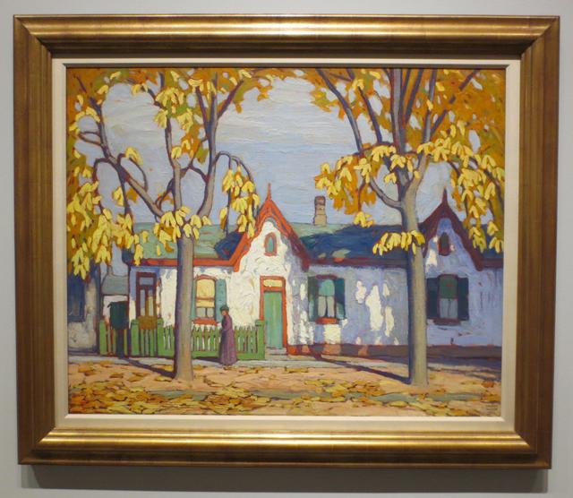 lawren-harris-painting-houses-on-st-patrick-street-toronto-ago-exhibit