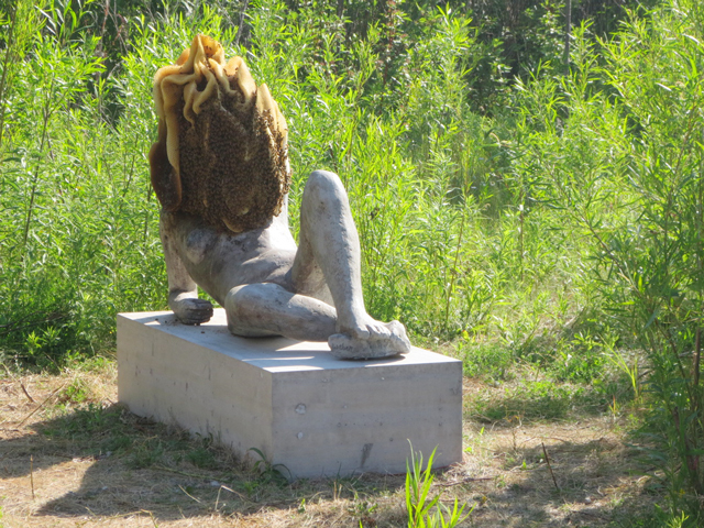 untilled-by-pierre-huyghe-concrete-statue-with-bee-hive-bee-colony-luminato-toronto-hearn-power-plant