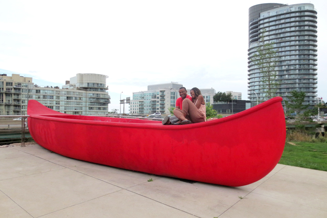 big-red-canoe-at-canoe-landing-park-toronto
