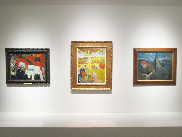 tryptic-of-paintings-by-paul-gauguin-at-ago-mystical-landscapes-exhibit-winter-twenty-sixteen