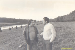 Le 19 octobre 1980 quelques heures avant sa déclaration à l'élection présidentielle, Michel Rocard s'entretient avec Daniel Frachon, 1er secrétaire fédéral du PS des Yvelines