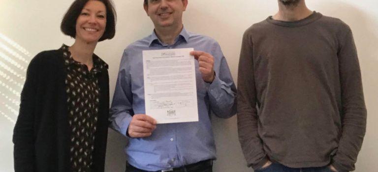 Signature de la charte Cantine sans plastique