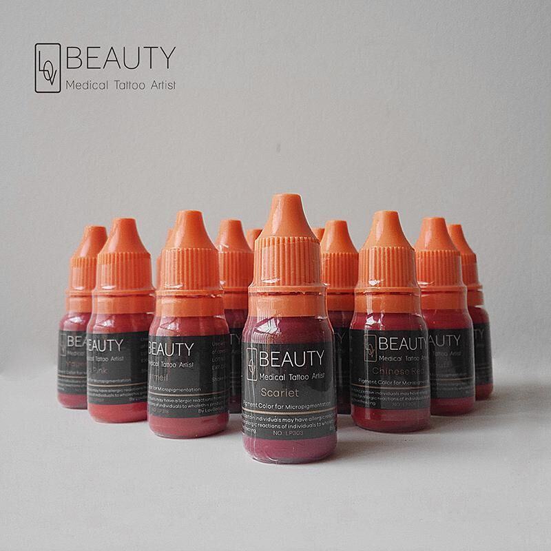 5 bottles Lovbeauty Organic pigment for Lip micropigmentation3