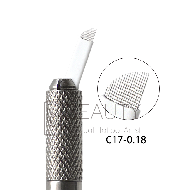 0.18mm-17pins Microblading Needle for 3D eyebrow tattoo (50pcs)