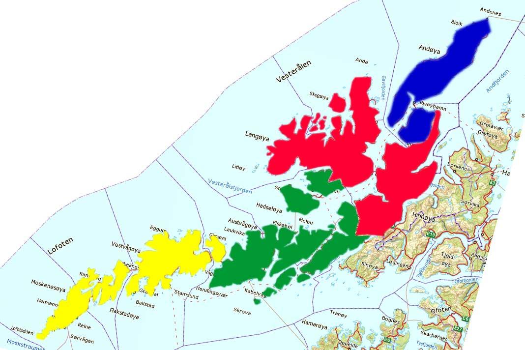 kart lofoten vesterålen Slik kan Lofoten og Vesterålen bli til fire kommuner | LoVe24.no kart lofoten vesterålen