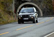 Sløverfjordtunellen bil
