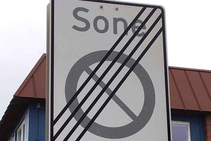 skilt parkering sone sortland