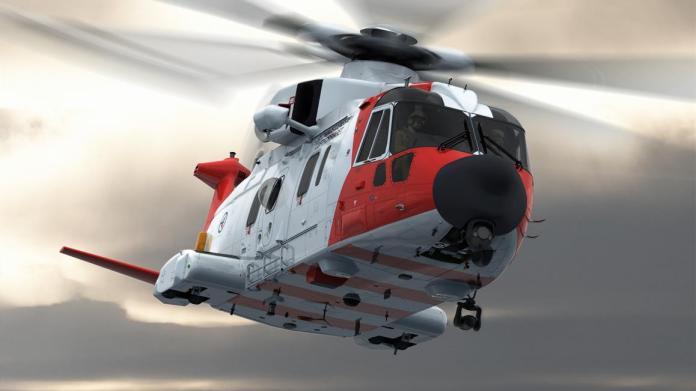 Luftforsvarets nye redningshelikopter AW101 Leonardo Helicopters