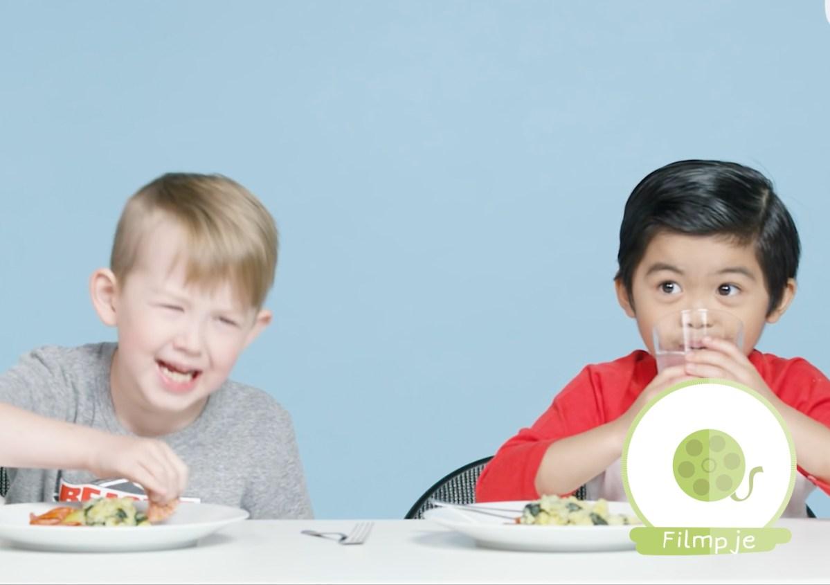 amerikaanse kinderen eten proberen nederlands