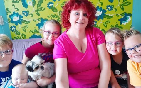 Alleenstaande moeder met 5 kinderen