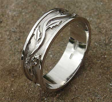 Scottish Thistle Wedding Ring LOVE2HAVE In The UK