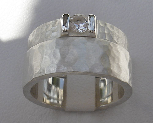 Hammered Silver Bridal Set LOVE2HAVE In The UK