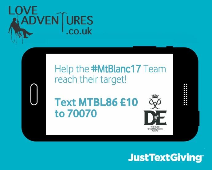 #MtBlanc17 Text Donate