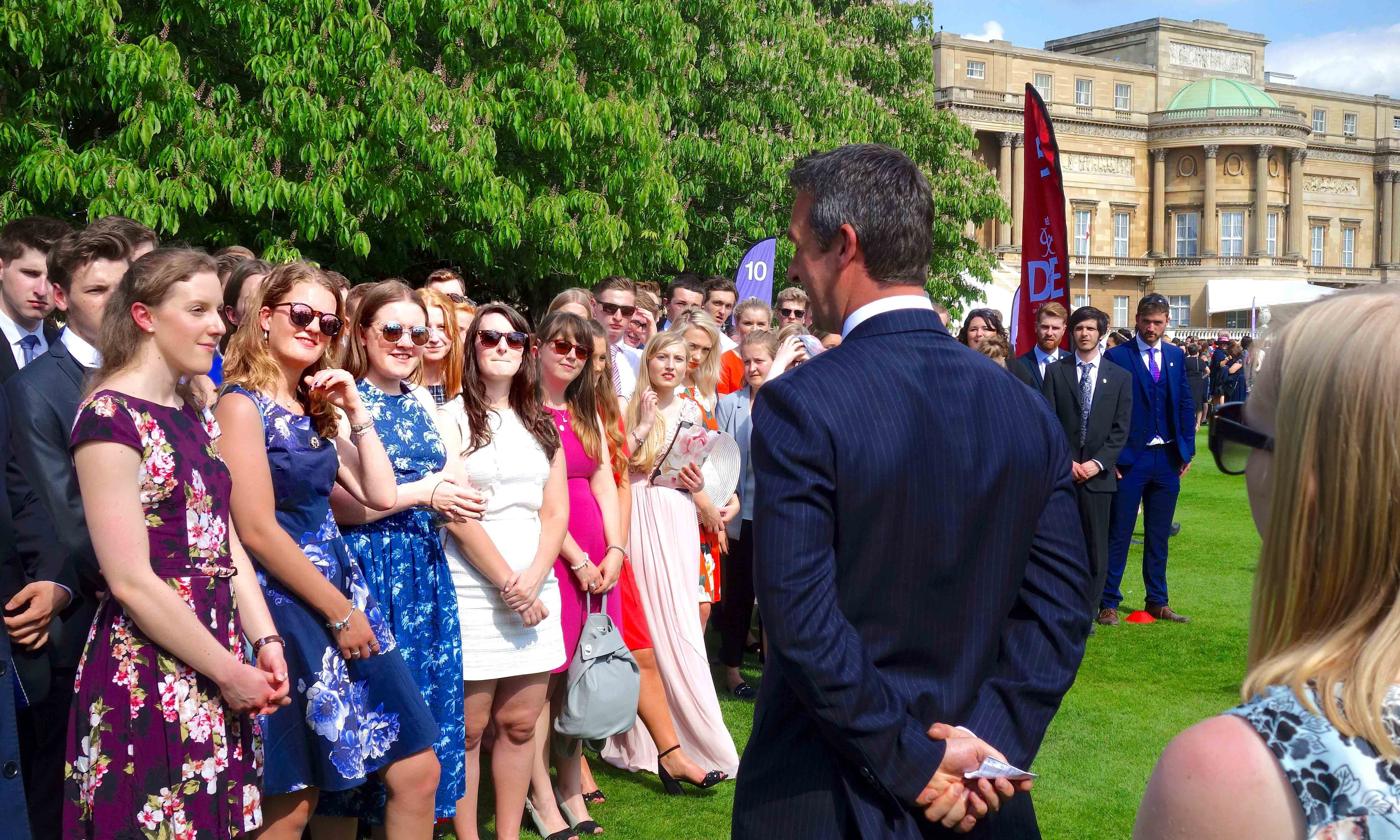 David Love LoveAdventures Presenting Gold DofE Awards at Buckingham Palace copy
