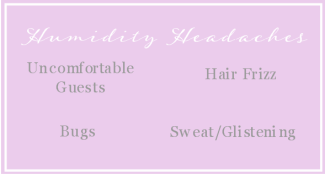 humidity headaches for a wedding