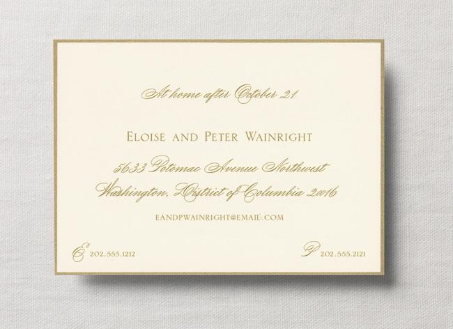 Exle At Home Wedding Card Enclosure