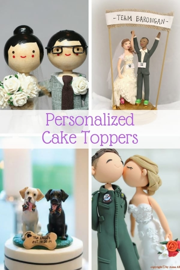 wedding cake topper  raquo  Personalized Wedding Cake Toppers     Guaranteed Smiles  12 Personalized Wedding Cake Toppers